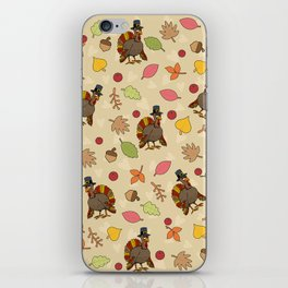 Thanksgiving Turkey pattern iPhone Skin