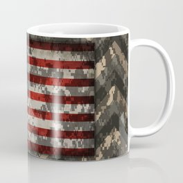 Digital Camo Patriotic Chevrons American Flag Coffee Mug