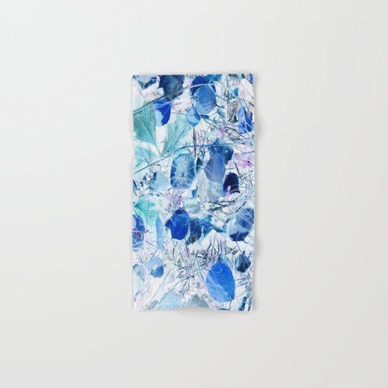 Blue leaves Hand & Bath Towel