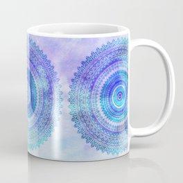 Blue Turquoise And Purple Watercolor Mandala Art Coffee Mug