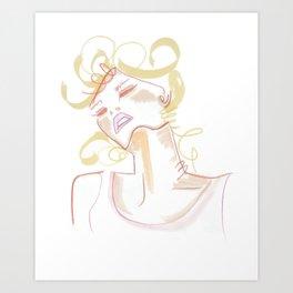 """loose"" - retro dancing bombshell Art Print"