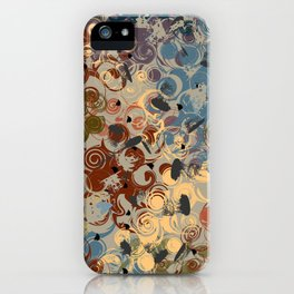 Earth Tone Abstract iPhone Case