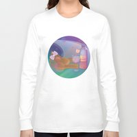 drunk Long Sleeve T-shirts featuring Drunk Cat by Graphic Tabby
