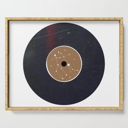 Vinyl Record Star Sign Art | Gemini Serving Tray