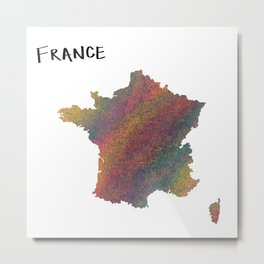france map Metal Print