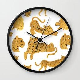 Tiger, Lion, Cheetah Wall Clock