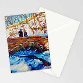 Meeting On A Bridge - Winter Park Stationery Cards