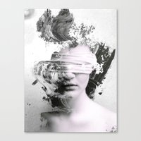 grunge Canvas Prints featuring Grunge by SLUMLUX