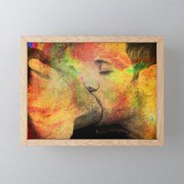 gay kiss Framed Mini Art Print