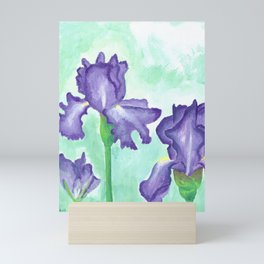 Lavender Irises Mini Art Print