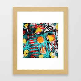 abstract colored chaos Framed Art Print