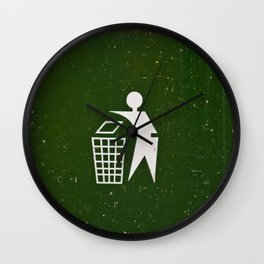 Trash - Put here please! Wall Clock