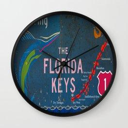 Entering The Florida Keys Wall Clock