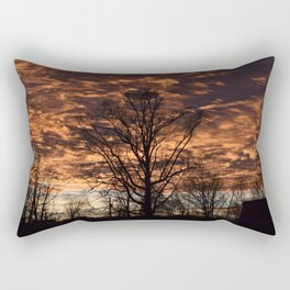 Sky on Fire in Tennessee Rectangular Pillow