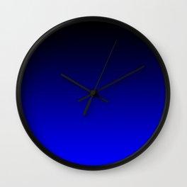 Black Blue Neon Nights Ombre Wall Clock