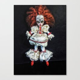 Female 'IT' custom doll Canvas Print