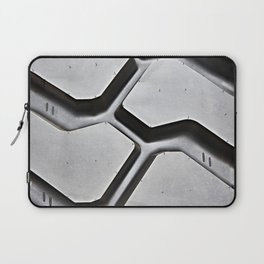 Black rubber tire background Laptop Sleeve