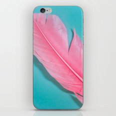 PINK FEATHER 2 iPhone & iPod Skin