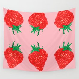 Strawberry Motif, 2013. Wall Tapestry