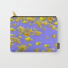Yellow Daffodils Jonquils Narciscus Flowers Lilac Art Carry-All Pouch