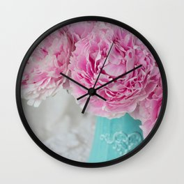 Peony Afternoon 3 Wall Clock