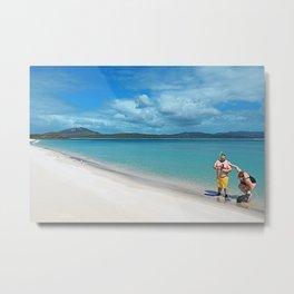 Whiteheaven Beach - Botero Metal Print