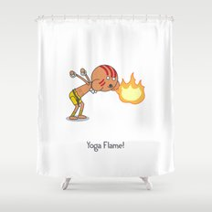 Yoga Flame! Shower Curtain