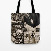 bugs Tote Bags featuring Bugs by The Art of Filippo Borghi