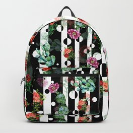 Cactus Flowers and Lines Backpack