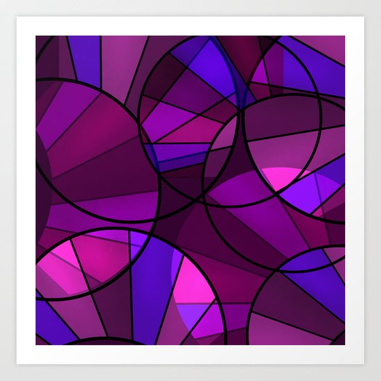 Colorful purple and blue pattern . Art Print
