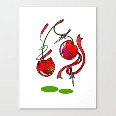 Cherry couplefight Canvas Print