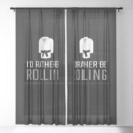 Rolling Brazilian Jiu Jitsu Gifts for Jiu Jitsu BJJ Gifts Sheer Curtain