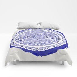 Douglas Fir – Navy Comforters