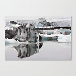 Ashy Glaciers. Canvas Print