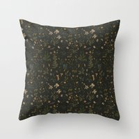 Throw Pillows featuring Old World Florals by Jessica Roux