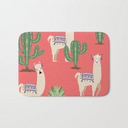 Llama with Cacti Bath Mat