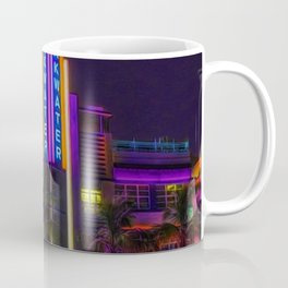 Breakwater Hotel - Art Deco South Beach Miami Portrait Painting Coffee Mug