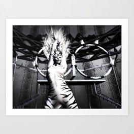 Circus Tiger Art Print