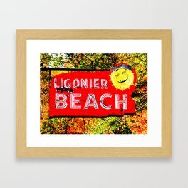 Ligonier Beach Framed Art Print