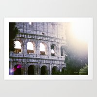 Colleseum, Colloso, Rome Art Print