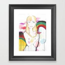 La fille de Siren Framed Art Print