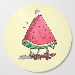 Watermelon Slice Skater Cutting Board
