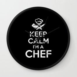 Keep Calm Chef Wall Clock