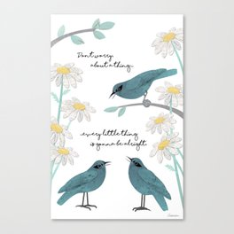 Three Little Birds (Parts 1 and 2) Canvas Print