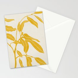 Golden Yellow Leaves #art print#society6 Stationery Cards