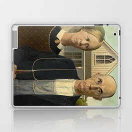 American Gothic by Grant Wood Laptop & iPad Skin