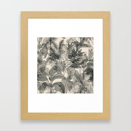 Neutral Jungle Framed Art Print