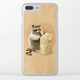 Raccoon in Pursuit of Perfection Clear iPhone Case