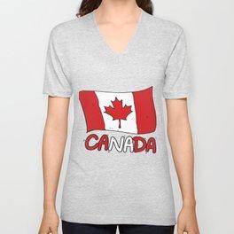 Canadian Flag Canada Gift Unisex V-Neck