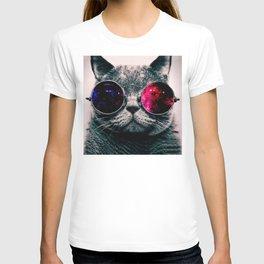 sunglasses cat T-shirt